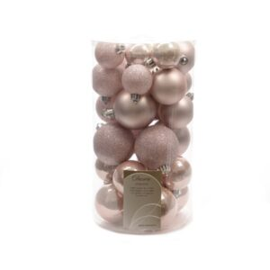 Decoris Shatterproof Baubles in Blush Pink (Pack of 30)