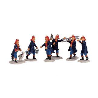 Set of 6 Lemax Firemen