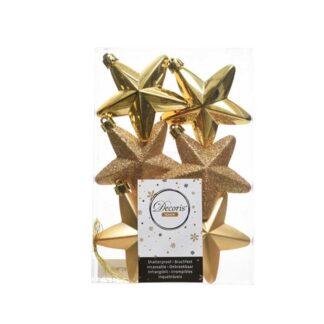 Light Gold Shatterproof Stars (Pack of 6)