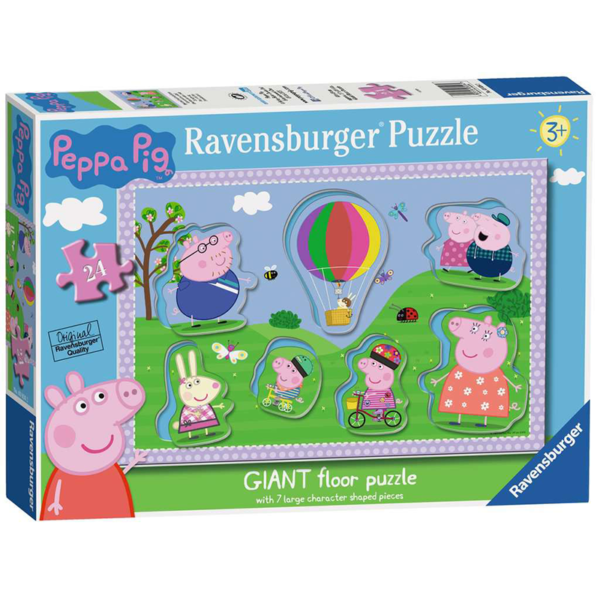 Peppa Pig Giant Floor Puzzle with Large Shaped Characters