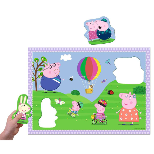 Detail of Peppa Pig Giant Floor Puzzle with Large Shaped Characters