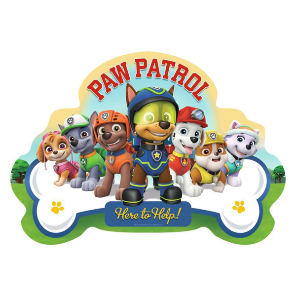 Detail of Paw Patrol Shaped Floor Puzzle 24 pieces