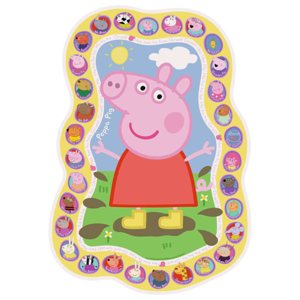Detail of Ravensburger Peppa Pig Shaped Floor Puzzle 24 pieces