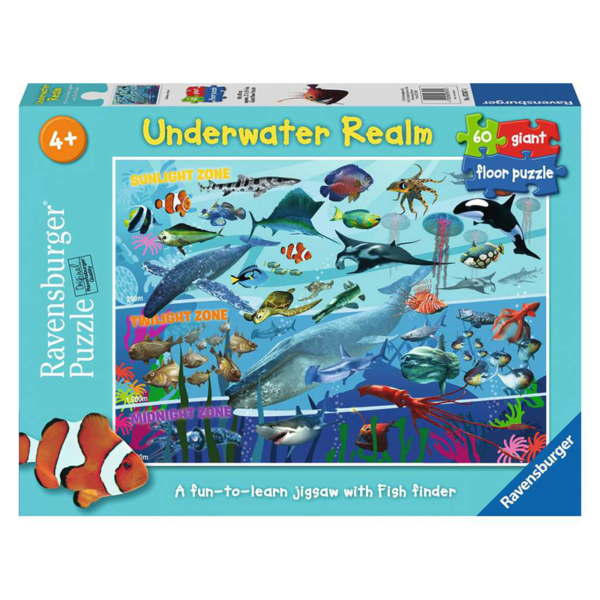 Ravensburger Floor Puzzle Underwater Realm 60 pieces