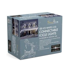 Snowtime 100 Connectable Ice White Icicle LEDs