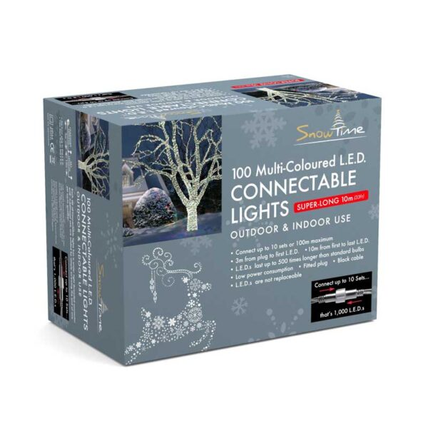 Snowtime 100 Connectable Multi-Colour LED Lights