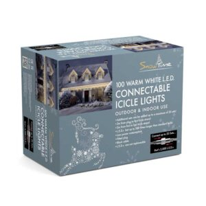 Snowtime 100 Connectable Warm White Icicle LEDs