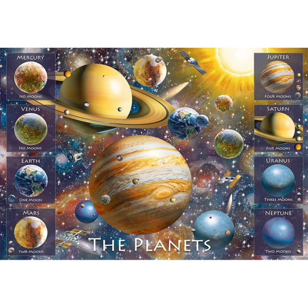 Detail of Ravensburger Puzzle The Planets XXL 100 pieces