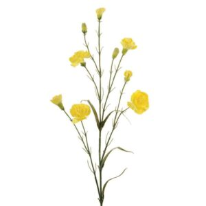 Floralsilk Lemon Carnation Stem (71cm)