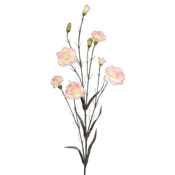 Floralsilk Pink Cream Carnation Stem (71cm)