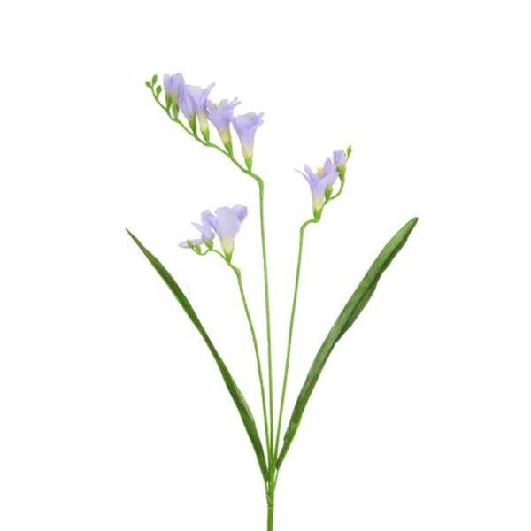 Floralsilk Violet Freesia Stem (65cm)