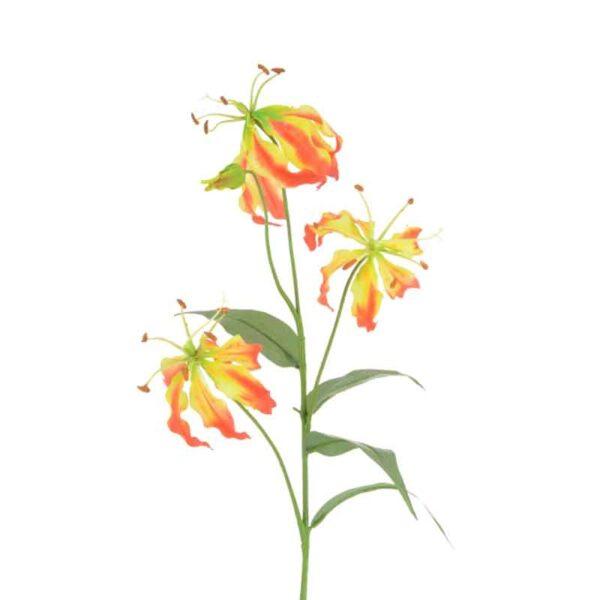 Floralsilk Gloriosa Lily Stem - 3 Heads (80cm)