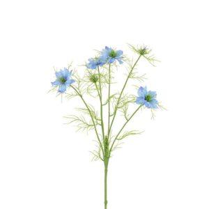 Floralsilk Blue Nigella Love In The Mist Stem (65cm)
