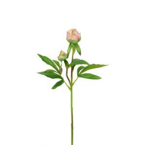 Floralsilk Fresh Touch Pink Peony Bud Stem (48cm)