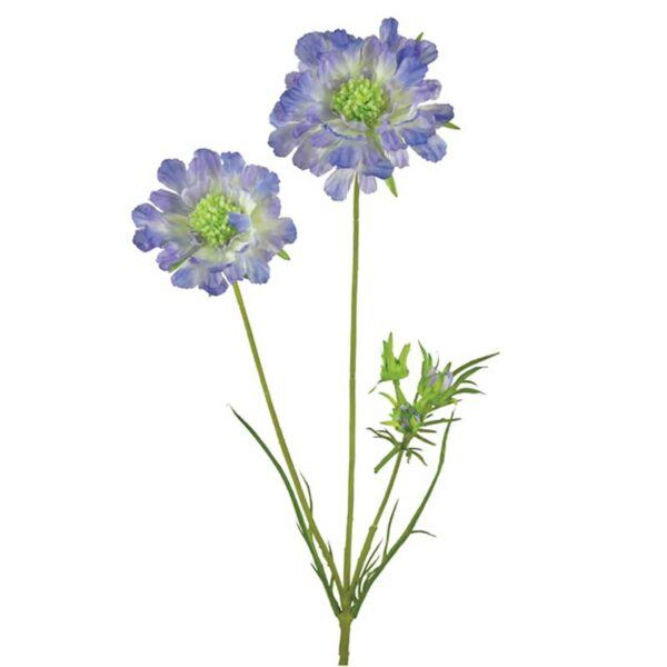 Floralsilk Blue Scabiosa Spray (84cm)