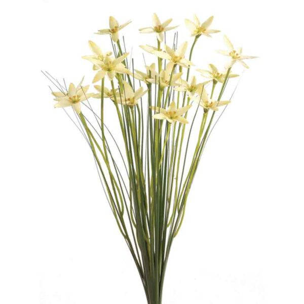 Floralsilk Yellow Star Flower with Grass (45cm)