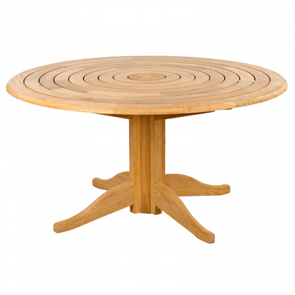 Roble Bengal Pedestal Table 1.45m