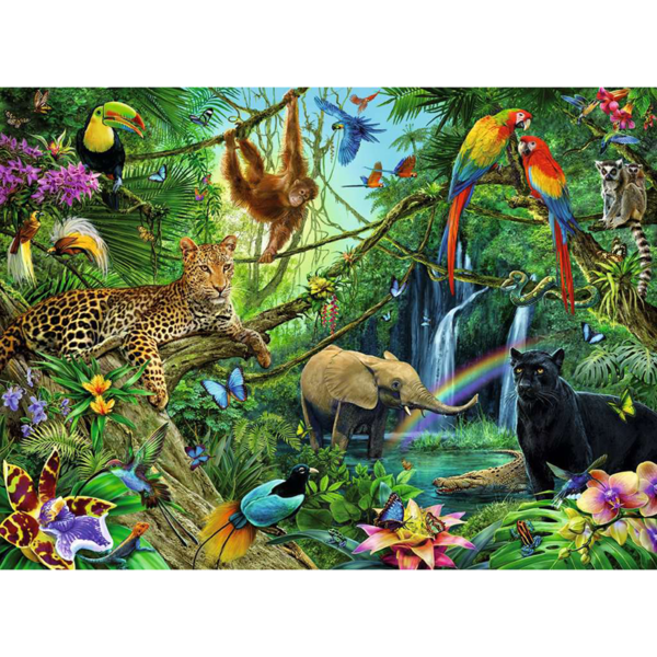 Detail of Ravensburger Puzzle Jungle XXL 200 pieces