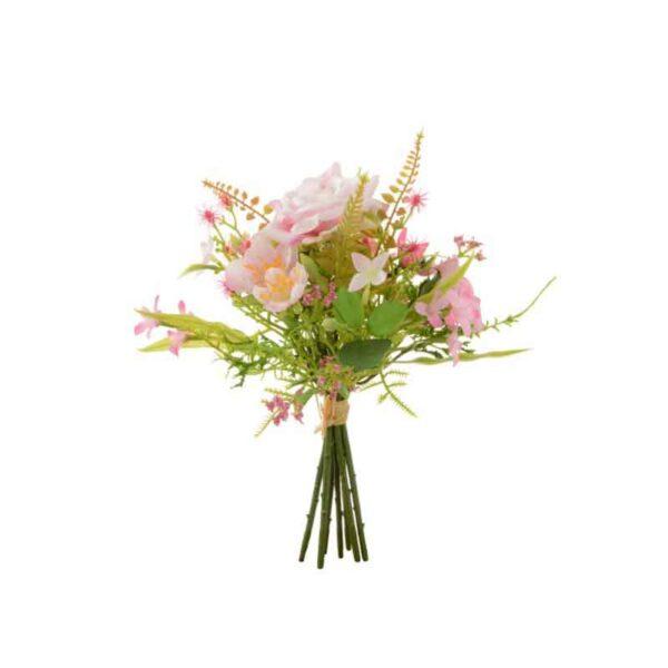 Floralsilk Pink Rose & Blossom Flower Bundle (20cm)