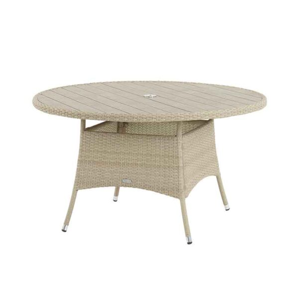 135cm Round Table in Nutmeg with recessed Tree-Free top