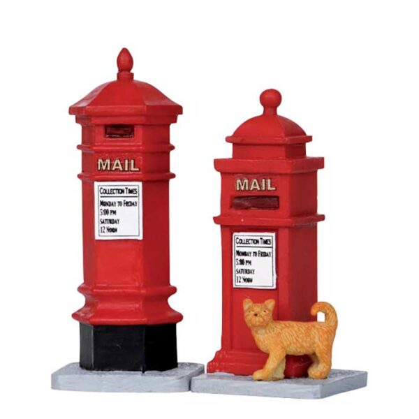Set of 2 Lemax Victorian Mailboxes