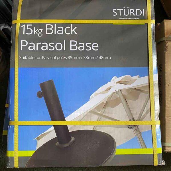 15kg Glencrest Sturdi Concrete Parasol Base (Black)