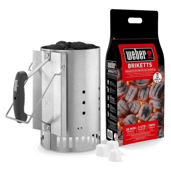 Weber Barbecue Rapidfire Chimney Starter Set