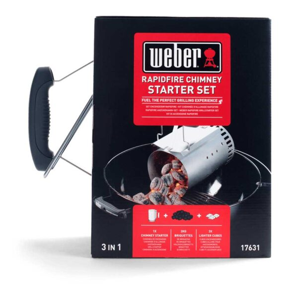 Weber Rapidfire Chimney Starter Set Boxed Front