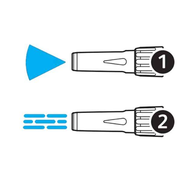 2 adjustable spray settings