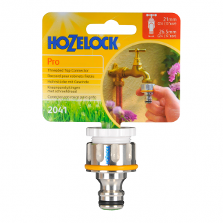 """Hozelock Pro Threaded Tap Connector (fits 1/2"""" & 3/4"""" taps)"""
