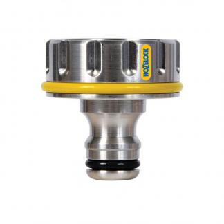 """Hozelock 1"""" Pro Metal Outdoor 33.3mm Tap Connector"""