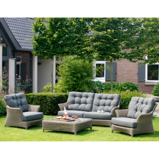 4 Seasons Outdoor - Valentine Relaxing Garden Lounge Suite in Pure