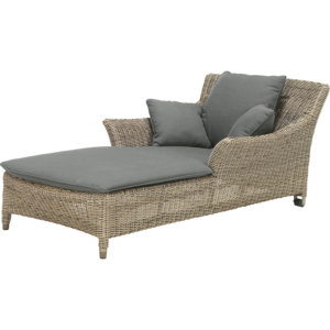4 Seasons Outdoor - Valentine One Seater Sunbed with Cushions