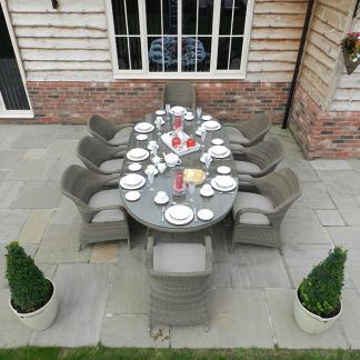 4 Seasons Sussex 8 Seat Garden Dining Set