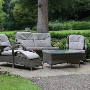 4 Seasons Sussex Lounge Suite with Footstool in Garden