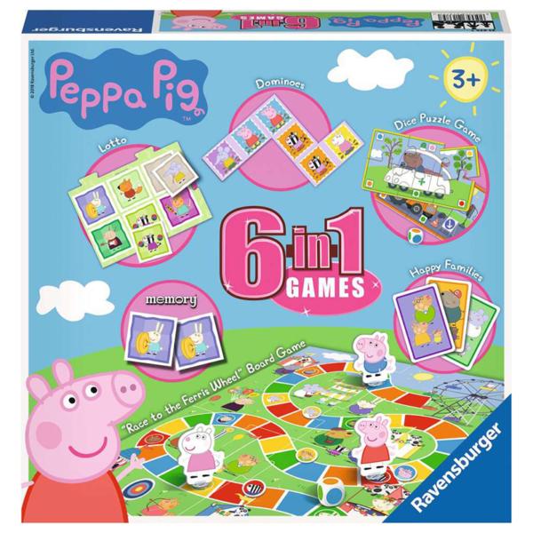 Ravensburger Peppa Pig 6-in-1 Games