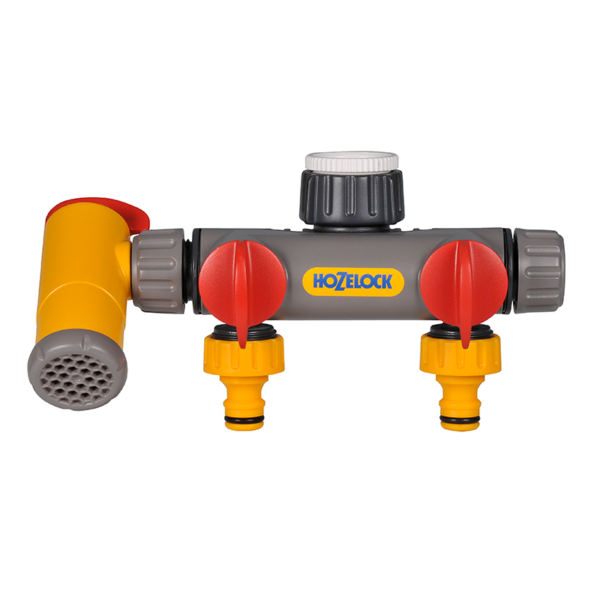 Flowmax 3-Way Tap Connector by Hozelock