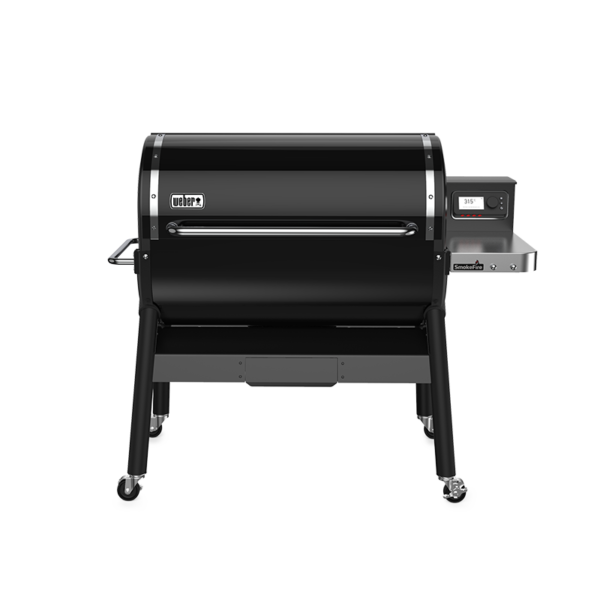 "Front of Weber SmokeFire EX6 GBS Wood Fired Pellet Grill (36"")"
