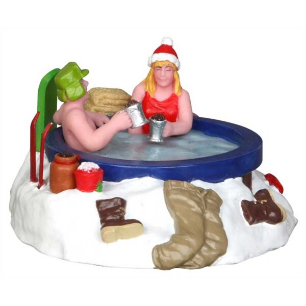 Lemax Winter Hot Tubbing Table Accent Piece