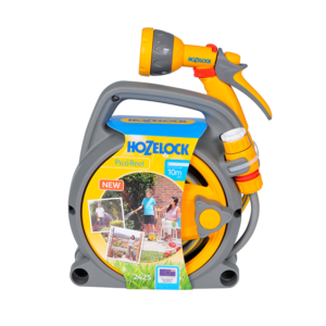Hozelock Pico Reel with 10m Hose, fittings & Multi Spray Gun