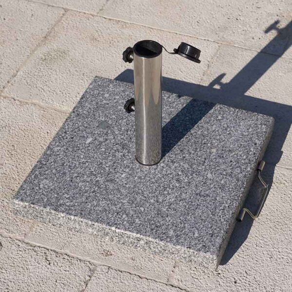 25kg Bramblecrest Granite Parasol Base on patio
