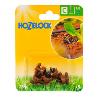 Hozelock 4 LPH In Line Pressure Compensating Drippers (Pack of 5)