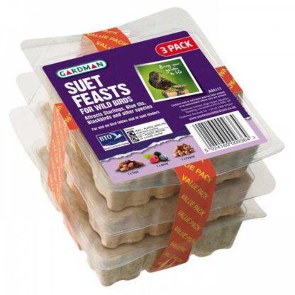 Gardman Suet Feast (Pack of 3)