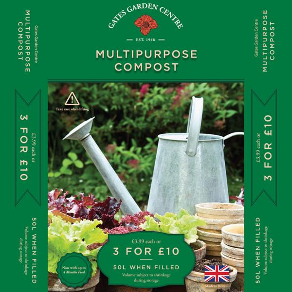Gates Garden Centre Multi-Purpose Compost (50 Litre)