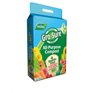 Westland Gro-Sure All-Purpose Compost Pouch & 4 Month Feed 10L
