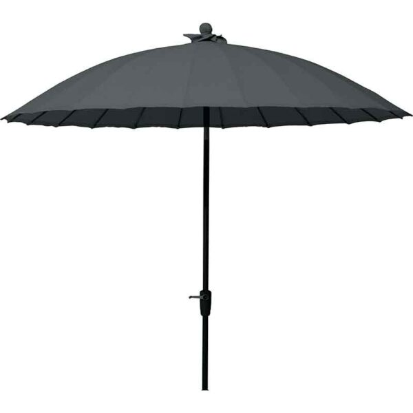 4 Seasons Outdoor 250cm Shanghai Round Parasol in Charcoal