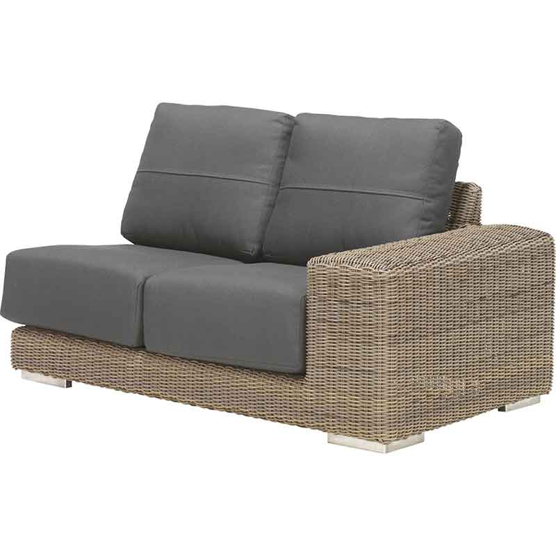 4 Seasons Outdoor Kingston Left Arm with 4 Cushions
