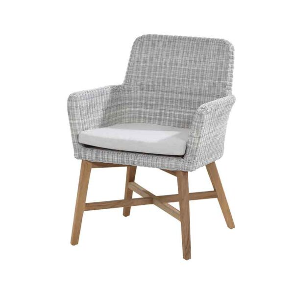 4 Seasons Outdoor Lisboa Dining Chair in Polyloom Ice