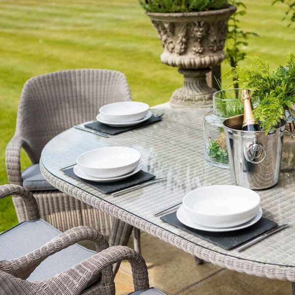 4 Seasons Outdoor Sussex 6 Seat Oval Dining Set