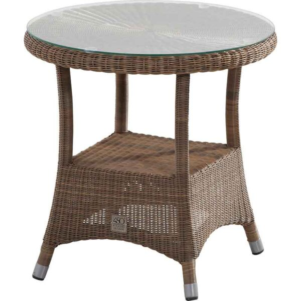4 Seasons Outdoor Sussex Bistro Table with Glass Top